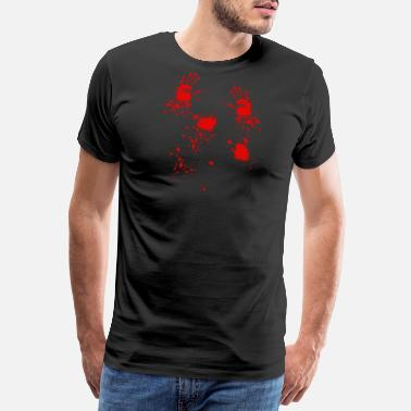 Midnatt Bloody Hands - Premium T-skjorte for menn