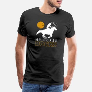 Jockey Mon cheval roches | rodeo - T-shirt Premium Homme