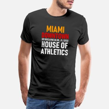Miami Beach Centre-ville de Miami - House of Athletics - Floride - T-shirt Premium Homme