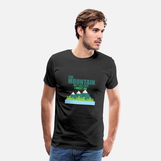 Nature Conservation T-Shirts - The Mountain - Men's Premium T-Shirt black