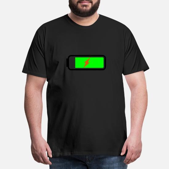 Batteri laster (3 farger) Premium T skjorte for menn