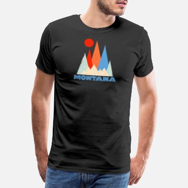 Rocky Mountains Montana - Mannen Premium T-shirt