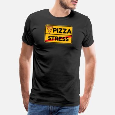 B Day Pizza street sign fast food food gift idea - Men's Premium T-Shirt