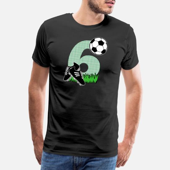 6e Verjaardag Cadeau Voetbal Kinderen Mannen Premium T Shirt