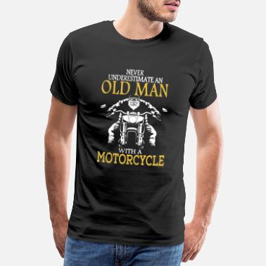Motorcycle old man with Motorcycle - Motorbike - Motorrad - S - Männer Premium T-Shirt