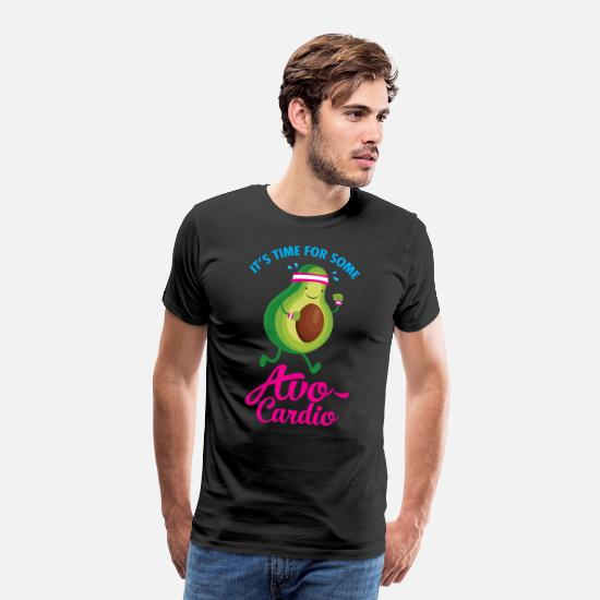 Vegan T-skjorter - It\'s Time For Some Avo Cardio - Premium T-skjorte for menn svart
