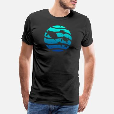 Ocean Wave Turtle sea turtle animal sea water ocean - Men's Premium T-Shirt