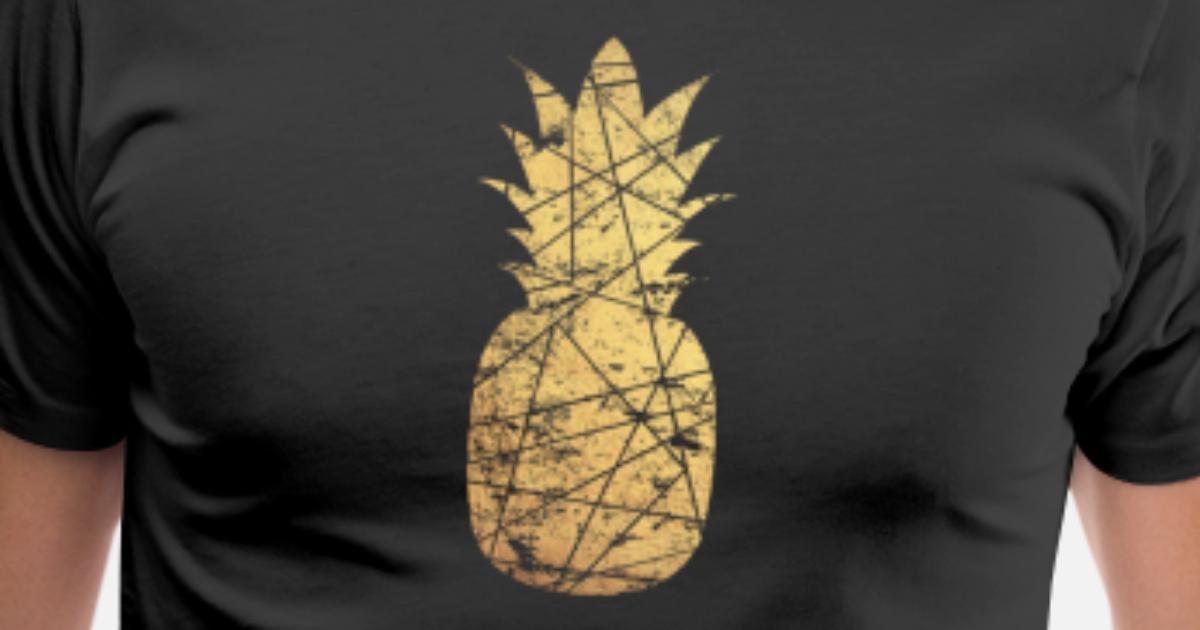 7709eaa54672 gold pineapple Men's Premium T-Shirt | Spreadshirt