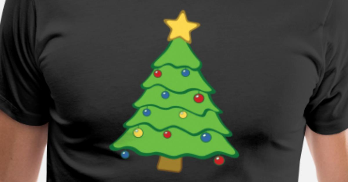 Christmas Tree Emoji.Christmas Tree Emoji With Star Ornaments Winter Men S Premium T Shirt Spreadshirt
