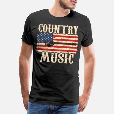 Country Guitare country - T-shirt premium Homme
