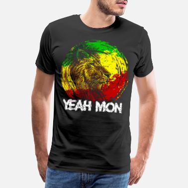 Dancehall Jamaica Caribbean Vacation Jamaica Rasta Reagge Lion - Men's Premium T-Shirt