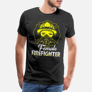 Rescue Services Firefighter fire rescue heroine fire protection - Men's Premium T-Shirt