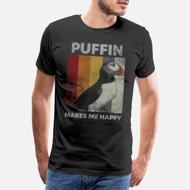 Wings Puffin Island Parrot Diver Bird North Gift - Herre premium T-shirt