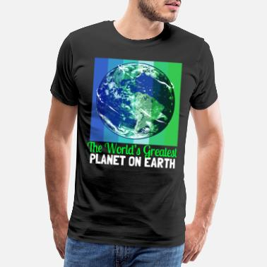 Bio Klimaendringer Earth Day Environmental Protection Eco Organic Earth - Premium T-skjorte for menn
