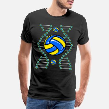 Block Volleyball Team Set Volley Beach Volleyballer Ball - Männer Premium T-Shirt
