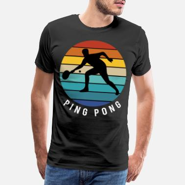Ball Bordtennis Ping Pong Bordtennis Ball Gave - Premium T-skjorte for menn