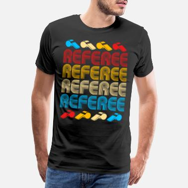 Football Game Referee Referee Yellow Red Card Costume Ball - Men's Premium T-Shirt