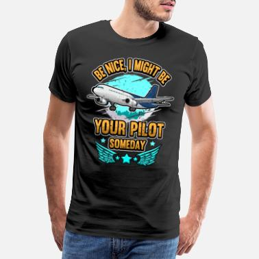 Helicopter Funny airplane pilot flying saying gift - Men's Premium T-Shirt