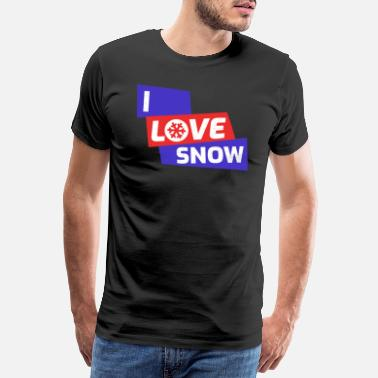 The Grandad I love snow gift shirt - Men's Premium T-Shirt