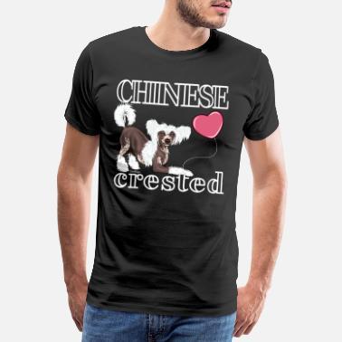Chinese Crested Dog-Momie C-neuf en coton blanc Lady T-Shirt