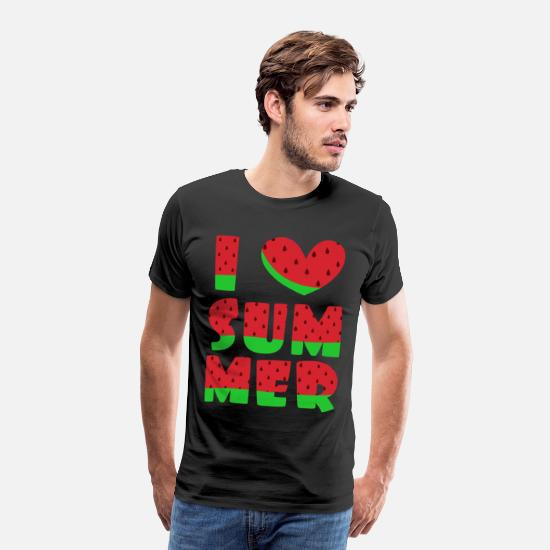 Summertime T-Shirts - summer - Men's Premium T-Shirt black