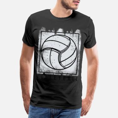 Used Look Vintage Retro Style Volleyball Ball Sportsgave - Premium T-skjorte for menn