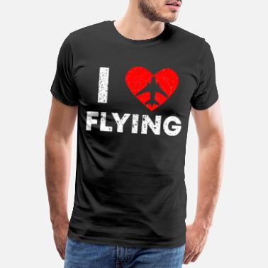 Pilot I love Flying Vintage Pilot T Shirt - Men's Premium T-Shirt