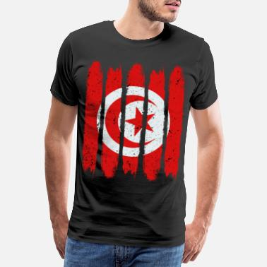 Place Of Residence Cool Tunisia National Flag Modern Country Gift - Men's Premium T-Shirt