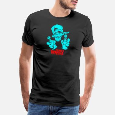 Spray Can Cool monkey with spray cans - Men's Premium T-Shirt
