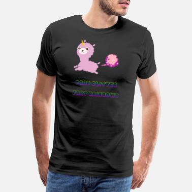 Lama Poop Glitter Fart Rainbows Unicorn - Men's Premium T-Shirt