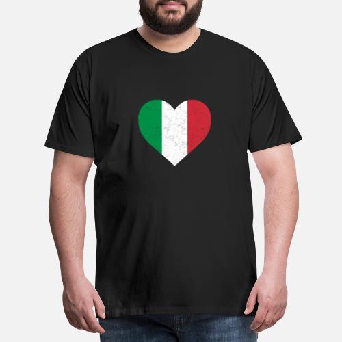 Bandera Camiseta Corazón Del La Italiana De Italia Camisa v1qwt44O