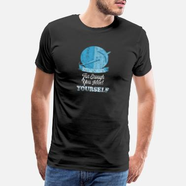 World Peace Travel around the world fly self-discovery fun holiday - Men's Premium T-Shirt
