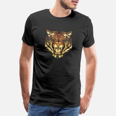 Wilderness Safari Tiger gift wilderness savanna wild - Men's Premium T-Shirt