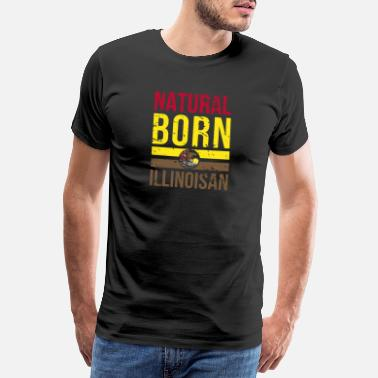 Chicago IL Illinois Native Gift för hemstatspride - Premium-T-shirt herr
