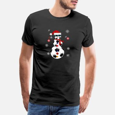 Major League Christmas Soccer Snowman Santa Hat Gift - Men's Premium T-Shirt