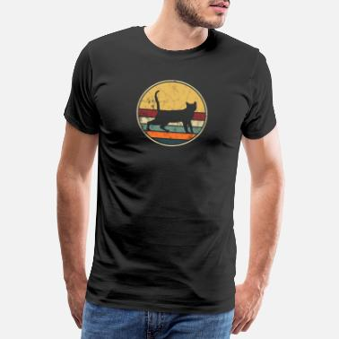 Hangover Cat Vintage Retro Style Distressed Look Hangover - Mannen Premium T-shirt