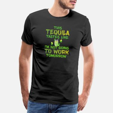 Tequila Sunrise Cool Cinco de Mayo Party Present Tequila arbete - Premium-T-shirt herr