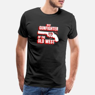 Collections Wild West Collection Bästa Gunfighter av Old West - Premium-T-shirt herr