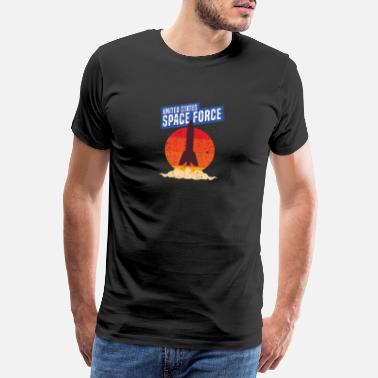 Spacemonster United States Space Force Rocket Shirt Gift - Men's Premium T-Shirt