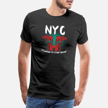 Monument New York - Mannen premium T-shirt