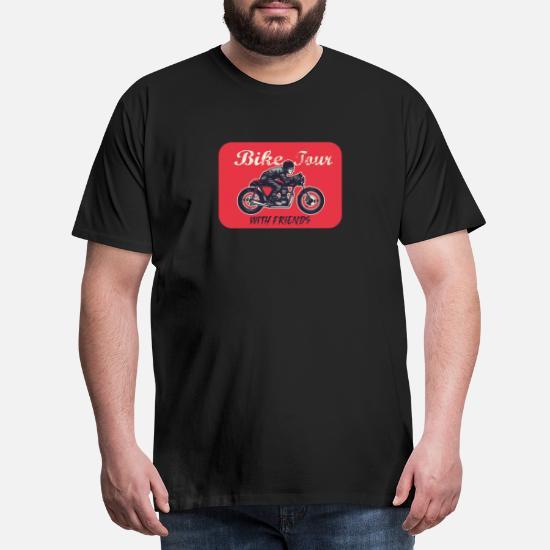 be560980 Motorsykkel Tour med venner Retro Style Premium T-skjorte for menn ...