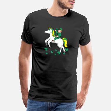 Irish Girls Leprechaun Unicorn Lepricorn St. Patrick's Day Iri - Männer Premium T-Shirt