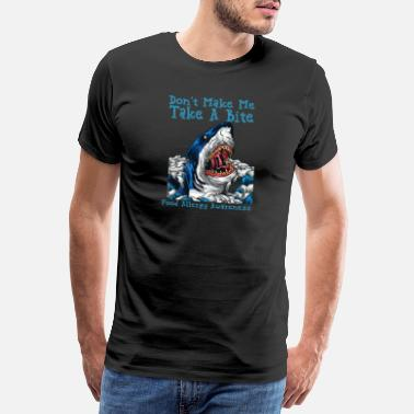 Great White Shark Kids Food Allergy Awareness print Boys Shark - Men's Premium T-Shirt