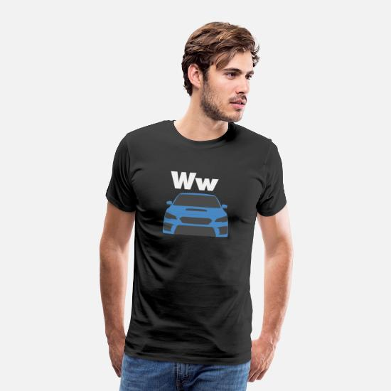 Gift Idea T-Shirts - Car Alphabet W - Men's Premium T-Shirt black