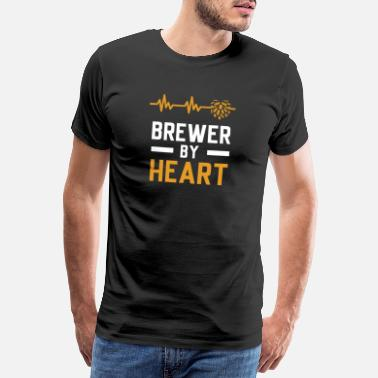 Alcohol Brewer with heart - Men's Premium T-Shirt