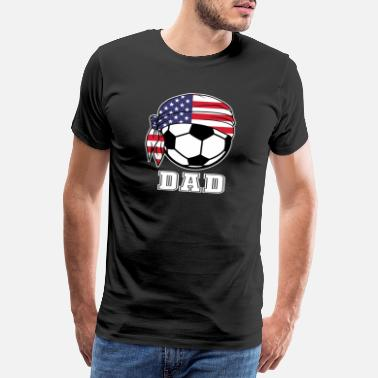 Enjoy Mens Soccer Dad Jersey | Gift for Futbol Players, - Men's Premium T-Shirt