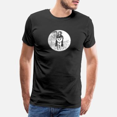 Lantaarn Death On Cat Halloween Scary Funny Pumpkin Cat Lov - Mannen premium T-shirt