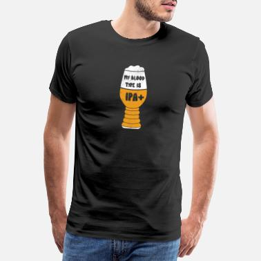 I Love Beer Min blodtype er IPA + skjorte Craft Beer Lover Gift - Premium T-skjorte for menn