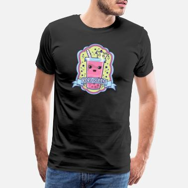 Punny Cute Boba Queen Kawaii Bubble Tea Boba Anime - Men's Premium T-Shirt