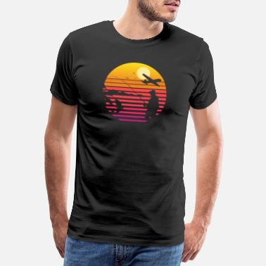 Smell Fly Fishing at Sunset | Cool Vintage Retro - Men's Premium T-Shirt